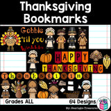 Thanksgiving Cut n' Color Bookmarks