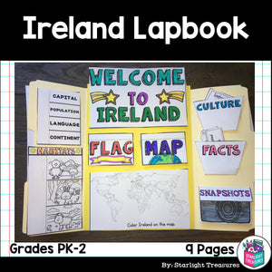 Ireland Lapbook for Early Learners - A Country Study