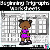 Beginning Trigraphs Worksheets and Activities for Early Readers