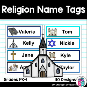 Religion Name Tags - Editable
