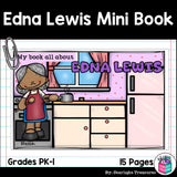 Edna Lewis Mini Book for Early Readers: Black History Month