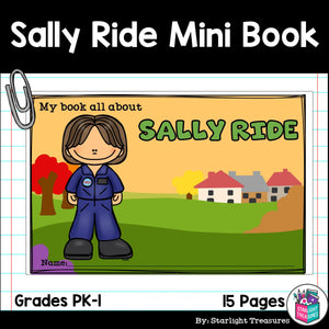 Sally Ride Mini Book for Early Readers: Women's History Month