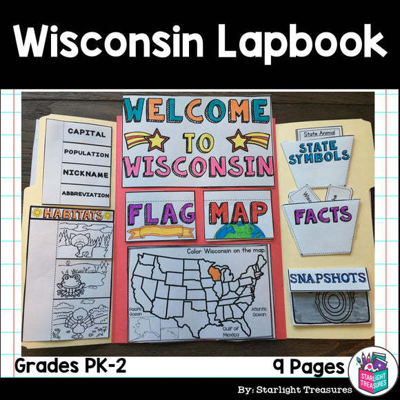 Wisconsin Lapbook for Early Learners - A State Study