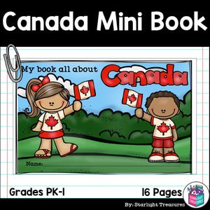Canada Mini Book for Early Readers - A Country Study