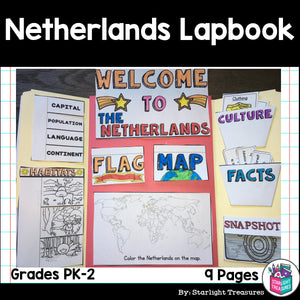 Netherlands Lapbook for Early Learners - A Country Study