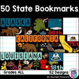 50 states bookmarks for early readers