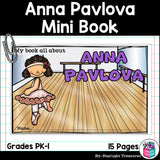 Anna Pavlova Mini Book for Early Readers: Women's History Month