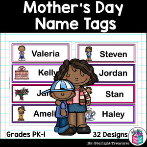 Mother's Day Name Tags - Editable