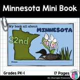 Minnesota Mini Book for Early Readers - A State Study