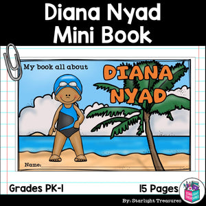 Diana Nyad Mini Book for Early Readers: Women's History Month