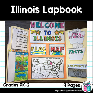 Illinois Lapbook for Early Learners - A State Study