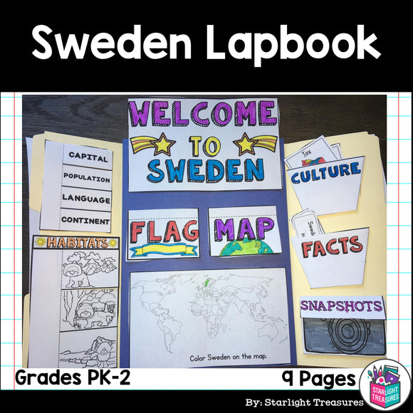 Sweden Lapbook for Early Learners - A Country Study