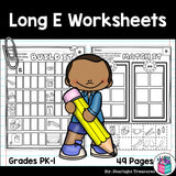 Long E Worksheets and Activities for Early Readers