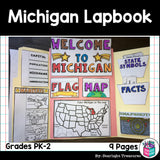 Michigan Lapbook for Early Learners - A State Study