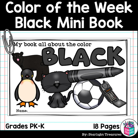 Colors of the Week: Black Mini Book