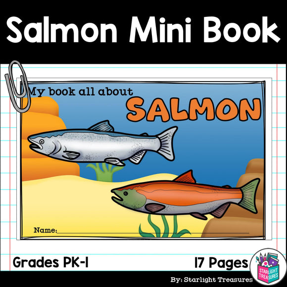 Salmon Mini Book for Early Readers