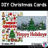DIY Christmas Coloring Cards