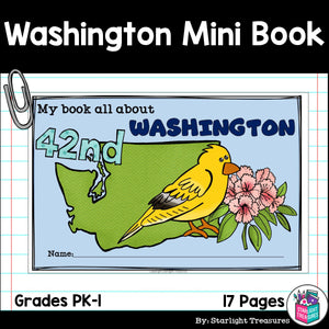 Washington Mini Book for Early Readers - A State Study