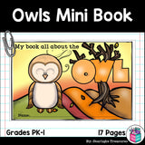 Owls Mini Book for Early Readers