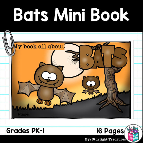 Bats Mini Book for Early Readers