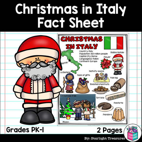 Christmas in Italy Fact Sheet for Early Readers