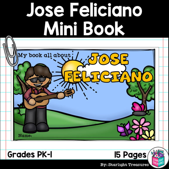 José Feliciano Mini Book for Early Readers: Hispanic Heritage Month