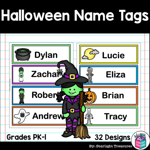 Halloween Name Tags - Editable