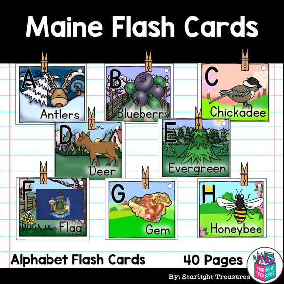 Maine Flash Cards