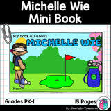 Michelle Wie Mini Book for Early Readers: Women's History Month