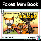 Foxes Mini Book for Early Readers