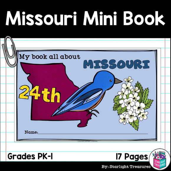 Missouri Mini Book for Early Readers - A State Study
