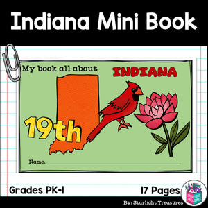 Indiana Mini Book for Early Readers - A State Study