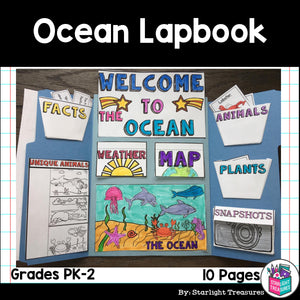 Ocean Lapbook for Early Learners - Animal Habitats