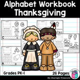 Worksheets A-Z Thanksgiving Theme