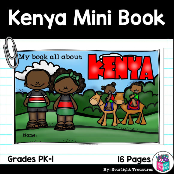 Kenya Mini Book for Early Readers - A Country Study
