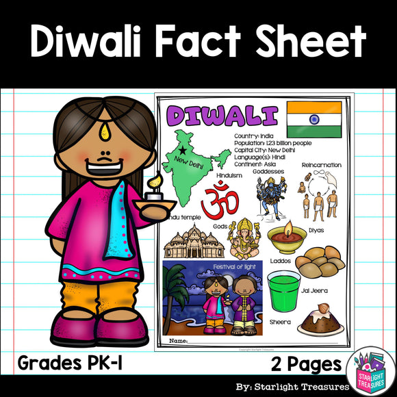 Diwali Fact Sheet for Early Readers