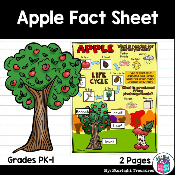 Apple Fact Sheet for Early Readers