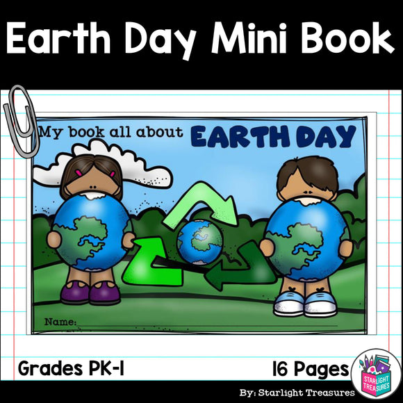 Earth Day Mini Book for Early Readers