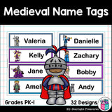 Medieval Name Tags - Editable