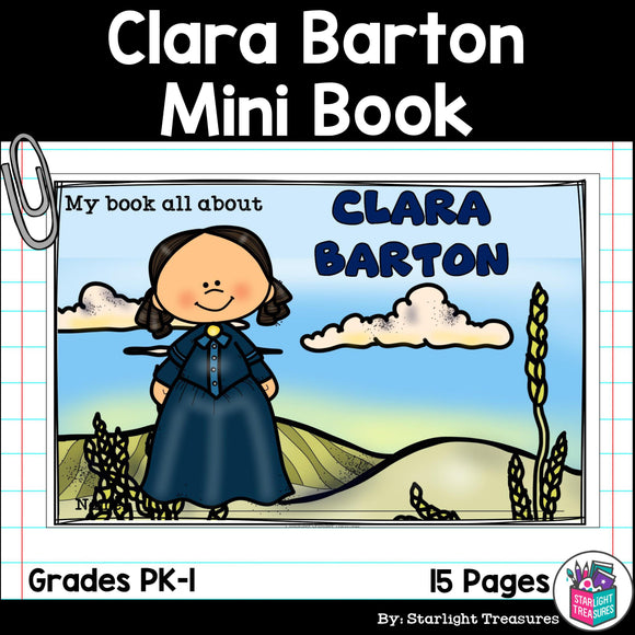 Clara Barton Mini Book for Early Readers: Women's History Month