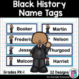 Black History Month Name Tags - Editable