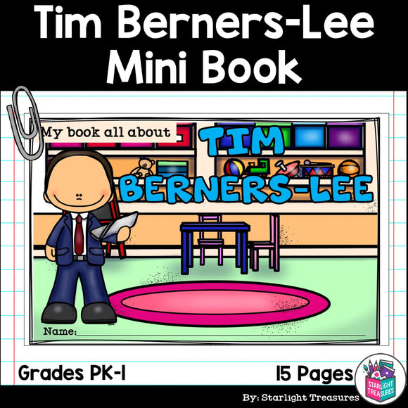 Tim Berners-Lee Mini Book for Early Readers: Inventors