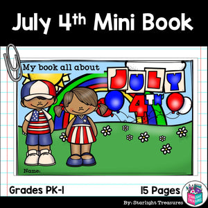 Independence Day Mini Book for Early Readers
