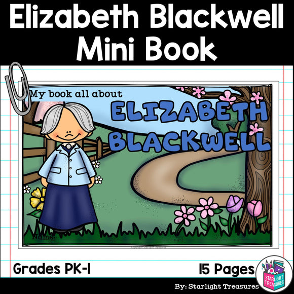 Elizabeth Blackwell Mini Book for Early Readers: Women's History Month