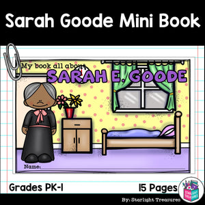 Sarah E. Goode Mini Book for Early Readers: Black History Month