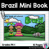 Brazil Mini Book for Early Readers - A Country Study