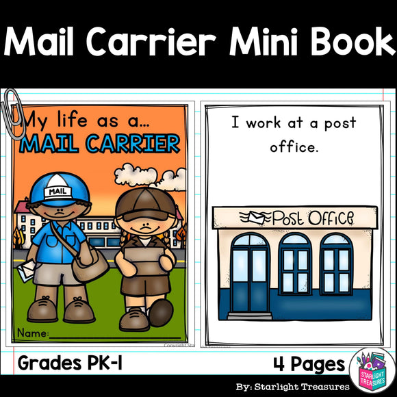 Mail Carrier Mini Book for Early Readers