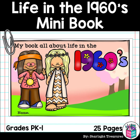 Life in the 1960s Mini Book for Early Readers