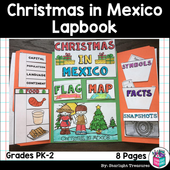 Christmas in Mexico Lapbook for Early Learners