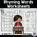Rhyming Words Worksheets and Activities for Early Readers